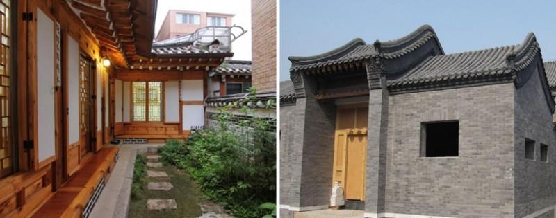 한국의 한옥과 이웃나라 중국의 사합원 비교